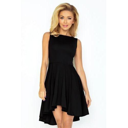 326fabcea2 33-4 Lacosta - Ekskluzywna sukienka z dłuższym tyłem - CZARNA L