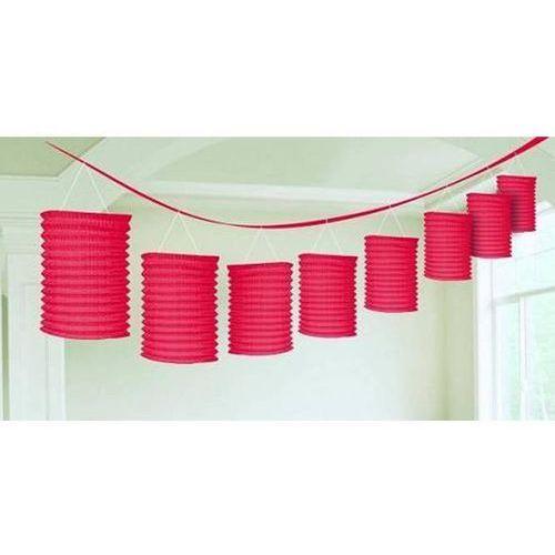 Dekoracyjna girlanda z lampionami - czerwona - 365 cm - 1 szt.