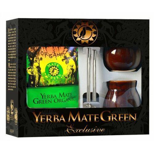 Zestaw dla dwojga yerba mate bio 400 g, 2 x matero, 2 x bombilla - organic mate green marki Organic mate green (yerba mate)