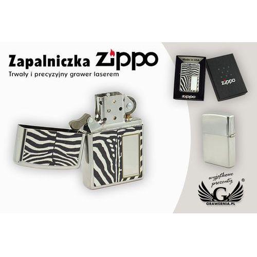 Zapalniczka zebra high polish chrome marki Zippo