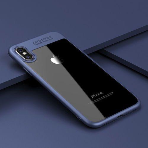"""LOVECOM Luksusowy case """"auto focus"""" dla iPhone X (niebieski) - Niebieski \ iPhone X"""