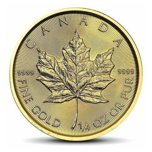 Kanadyjski liść klonowy 1/4 uncji złota - 15 dni marki Royal canadian mint