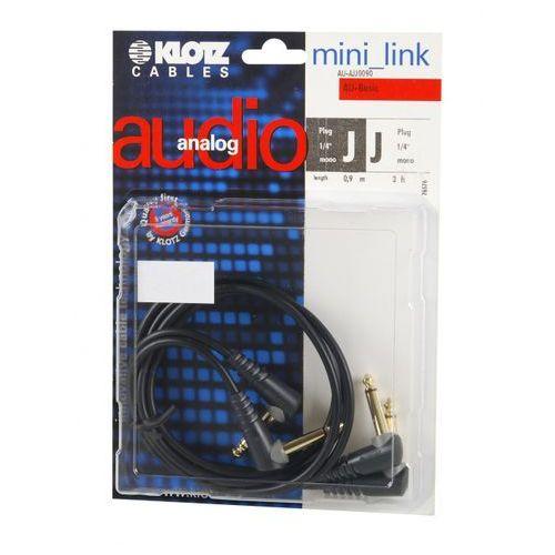 au ajj0090 kabel patch stompbox 90cm, ts kątowe (2 szt.) marki Klotz