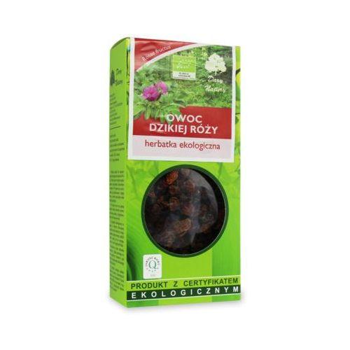 50g herbata owoc dzikiej róży liściasta bio marki Dary natury