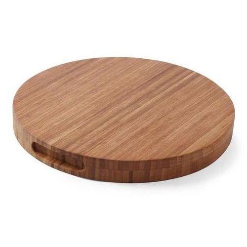 Drewniana deska do krojenia Bamboo | okrągła | śr. 400x(H)35mm