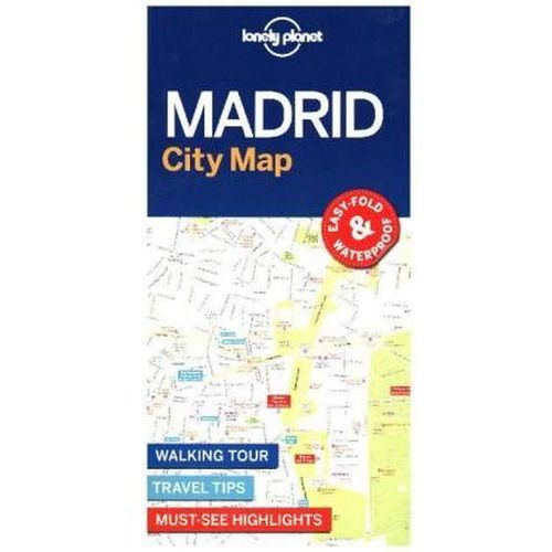 Lonely Planet Madrid City Map, Lonely Planet