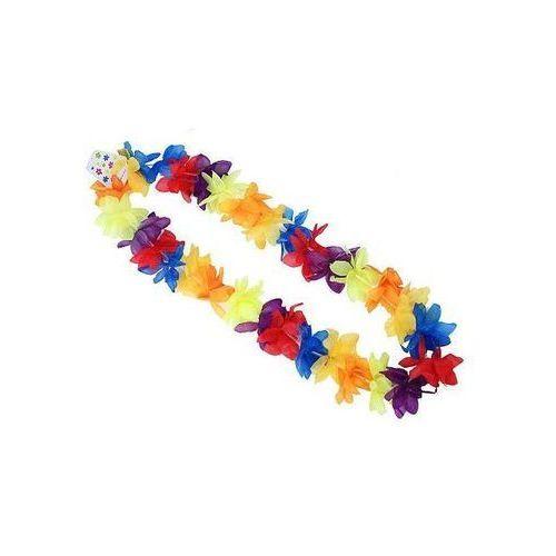 Naszyjnik hawajski - ciemny tęczowy - 110 cm - 1 szt.
