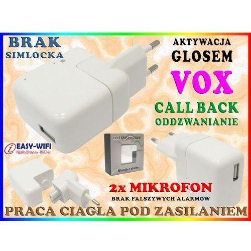 PODSŁUCH GSM W ŁADOWARCE ZASILACZU USB 5V 500mA DETEKCJĄ GŁOSU VOX - oferta [7589d7a60fc326ba]