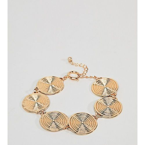 ASOS DESIGN Curve Statement Swirl Coin Bracelet - Gold