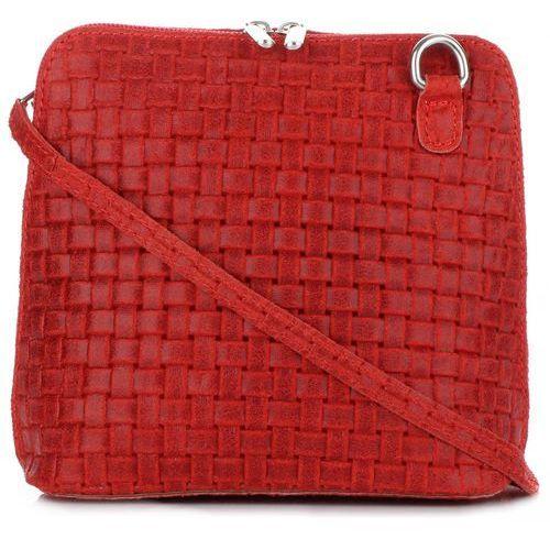 68c38ee1fec22 Genuine Leather Małe Torebki Skórzane Listonoszki Czerwone (kolory) 79