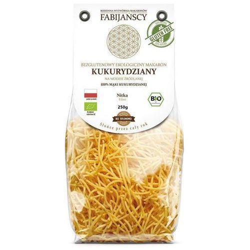 Fabijańscy (makarony) Makaron (kukurydziany) nitka filini bezglutenowy bio 250 g - fabijańscy (5902811253048)