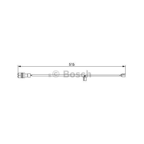 Styk ostrzegwaczy, zużycie okładzin hamulcowych 1 987 474 991 marki Bosch