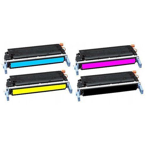 Komplet tonerów zamienników DT4600KPLH do HP Color LaserJet 4600 4650, pasuje zamiast HP C9720A C9721A C9723A C9722A 641A CMYK, 9000/8000 stron