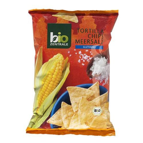 111bio zentrale Chipsy tortilla nachosy z solą morską bezglutenowe 125g - bio zentrale eko