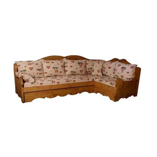 Sofa narożna z drewna świerkowego Mexicana 3 (narożnik do salonu)