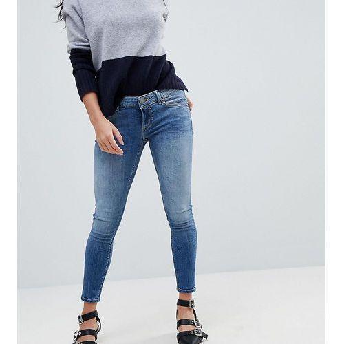 ASOS DESIGN Petite Whitby low rise skinny jeans in tatiana wash - Blue
