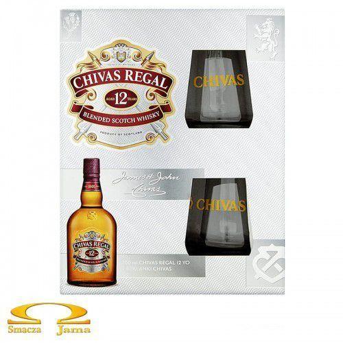 Whisky Chivas Regal 12 YO 0,7l + 2 szklanki (5900685005138)