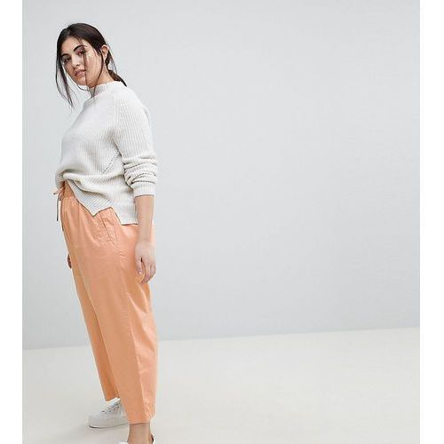 ASOS CURVE Soft Wide Leg Trousers in Dusty Pink - Pink