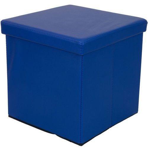 Stilista ® Niebieska składana pufa cube siedzisko kufer fotel - niebieski