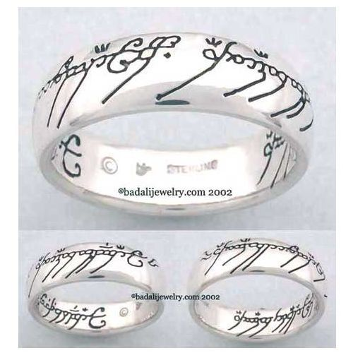 Sterling Silver The One Ring Black (ORS-01)