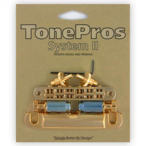 TonePros LPS02-G - Bridge and Tailpiece Set, mostek do gitary, złoty