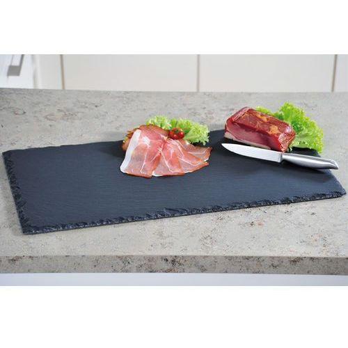 Kamienna taca do serwowania i podawania posiłków, patera na przekąski - łupek