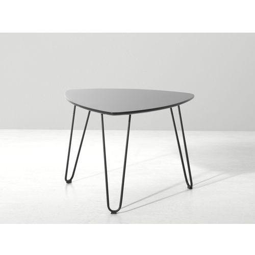 Nowoczesny stolik kawowy 60x45 cm - lawa - stól, czarny - LILY, Beliani z Beliani