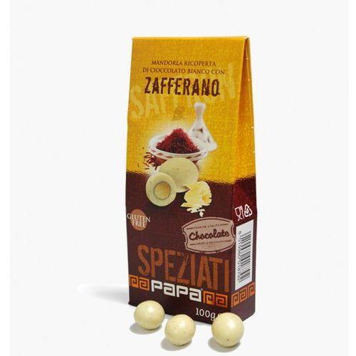 Papa Speziati migdały w białej czekoladzie z nutą szafranu 100 g