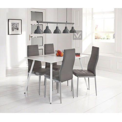 Machina Meble Stół jadalniany biały lakier matowy 120x80 cm Mdf - mm0m255563 - produkt dostępny w sfmeble.pl