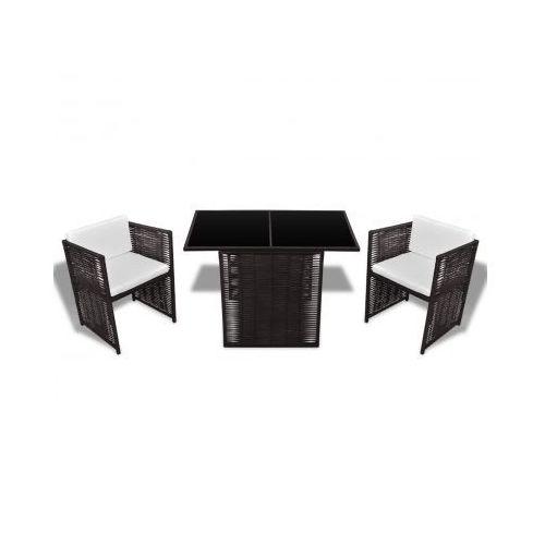 meble rattanowe, stół i 2 krzesła z kategorii meble ogrodowe