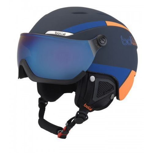Bolle Kask b-yond visor navy & orange with amber blue visor