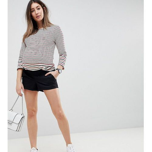 Asos design maternity chino shorts in black with under the bump waistband - black, Asos maternity