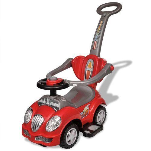 czerwony samochód-jeździk z drążkiem do pchania marki Vidaxl