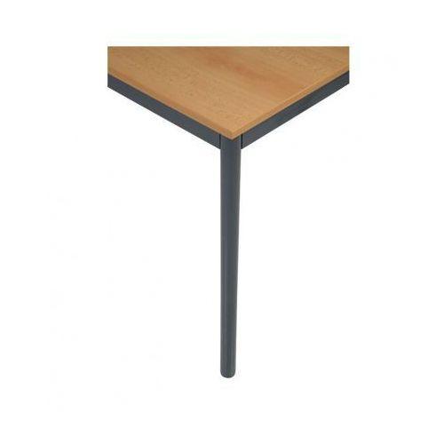 Stół kuchenny - okrągłe nogi, ciemnoszara konstrukcja, 1200x800 mm - sprawdź w B2B Partner