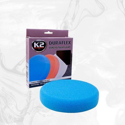 Duraflex - niebieska gąbka polerska na rzep gąbka mocnościerna, super trwarda - szt marki K2