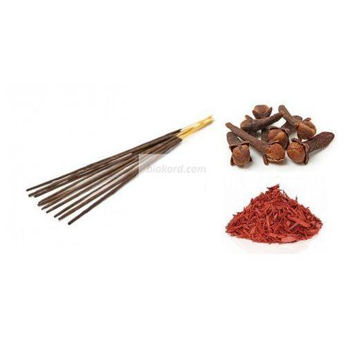 Aromatika Kadzidełka aromatyczne goździk i sandałowiec, 100% naturalne,