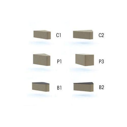 stół WALL IN SYSTEM B2 stolik -łącznik 60 stopni - LW02 -czarny - sprawdź w e-krzeslo.pl