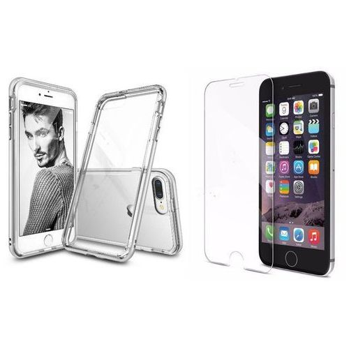 Zestaw | Rearth Ringke Frame Ice Silver | Obudowa + Szkło ochronne Perfect Glass dla modelu Apple iPhone 7 Plus