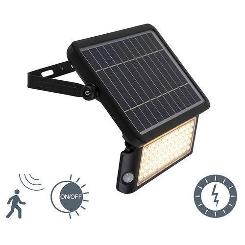 Naświetlacz solarny zawiera led z czujnikiem ruchu i zmierzchu - teho marki Shada
