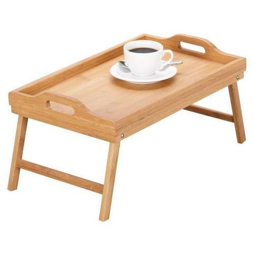 Stolik śniadaniowy, bambusowa taca z nóżkami, 50x30 cm, ZELLER