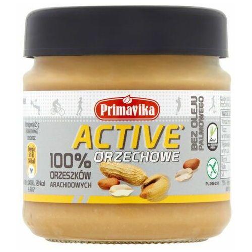 Primavika Masło orzechowe active 100% orzeszków arachidowych 185 g (5900672302318)