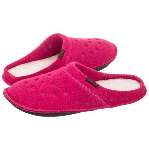 Kapcie Crocs Classic Slipper Candy Pink/Oatmeal 203600-6ME (CR131-a), kolor różowy