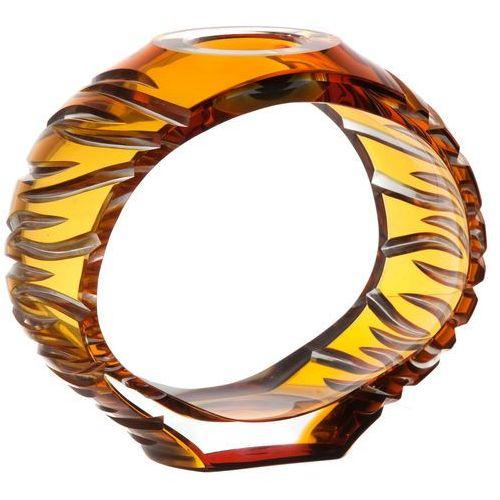 37898 Świecznik Ara, kolor bursztynowy, wysokość 165 mm