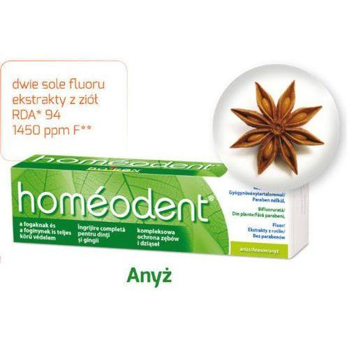 Boiron Homeodent kompleksowa ochrona zębów i dziąseł pasta anyżowa 75ml