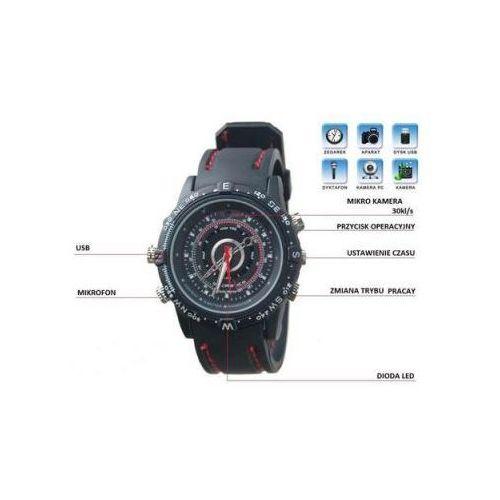 Zegarek na Rękę Nagrywający Obraz i Dźwięk (8GB) + Dyktafon... (kamera monitoringowa)
