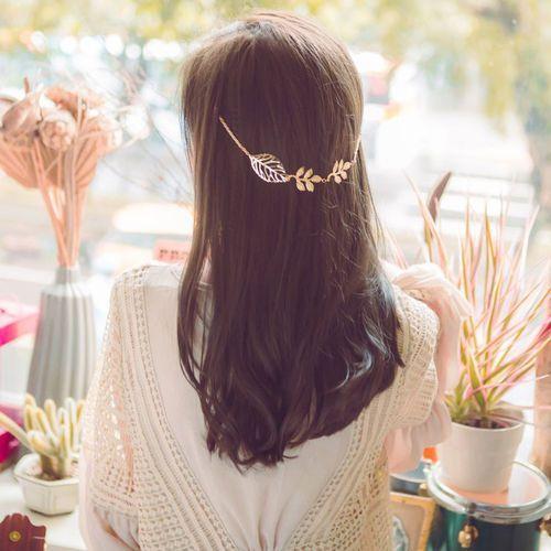 Ozdoba do włosów złote listki - listki marki Cloe