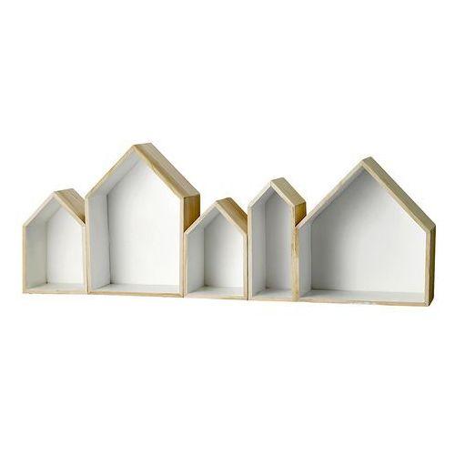 Półki domki 5 sztuk, białe 509043 - sprawdź w North&South Home