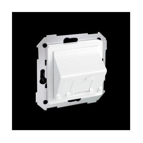 Kontakt-simon Pokrywa 1x gniazdo rj45, skośna z żaluzją (moduł).!wymagany adapter 75001-39; biały