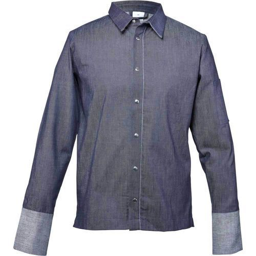 Bluza kucharska z jeansu niebieska rozmiar M
