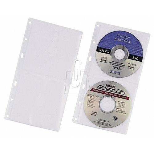 Durable Kieszeń na 2 płyty cd z wyściółką ochronną do segregatorów a4 zapas 5 sztuk 520319